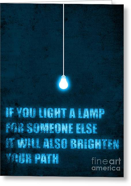 Enlightenment Greeting Cards - Light a lamp Greeting Card by Budi Kwan
