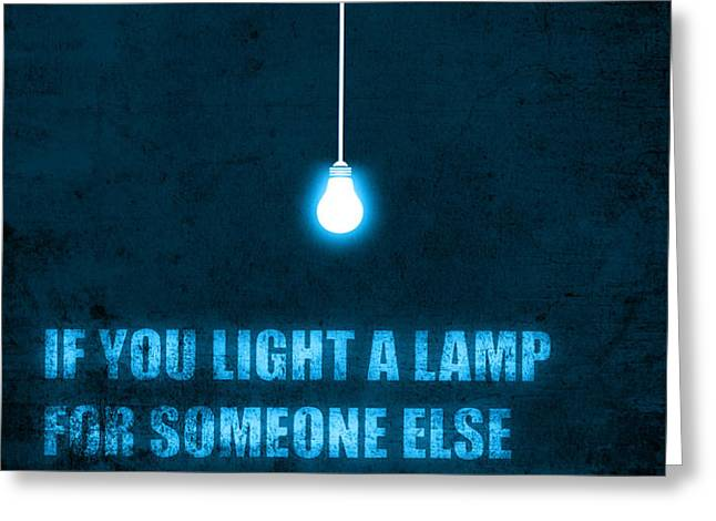 Light a lamp Greeting Card by Budi Kwan