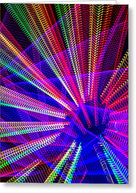 Radiance Greeting Cards - Light Abstract Greeting Card by Garry Gay