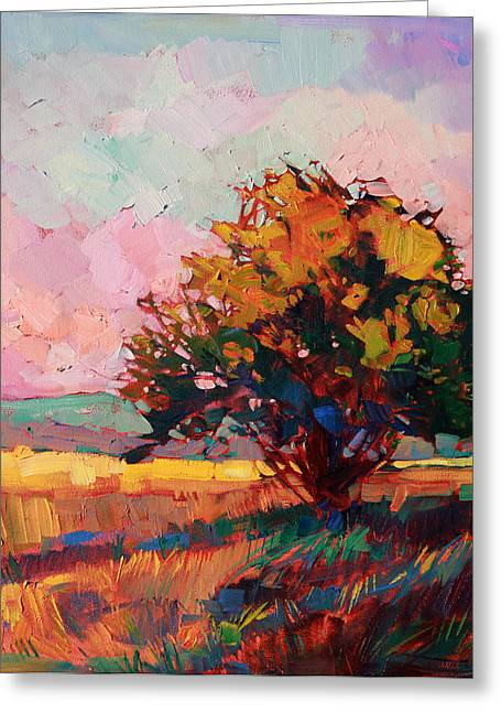 Paintng Greeting Cards - Light Alone Greeting Card by Erin Hanson