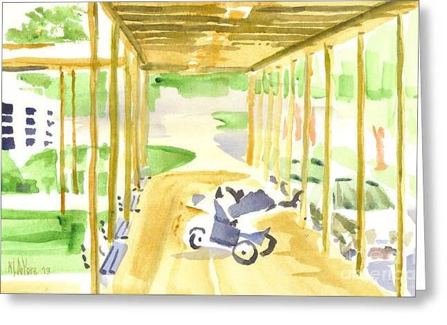 Youthful Paintings Greeting Cards - Breezeway Greeting Card by Kip DeVore