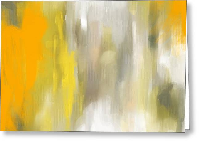Abstract Lemons Greeting Cards - Light And Grace Greeting Card by Lourry Legarde