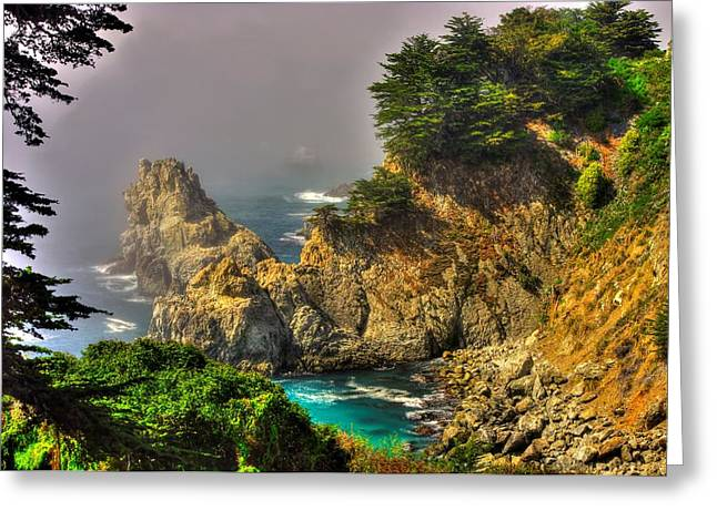 Big Sur Ca Greeting Cards - Light and Mist Along the Monterey Peninsula - No. 1 Spring Mid-Afternoon Greeting Card by Michael Mazaika