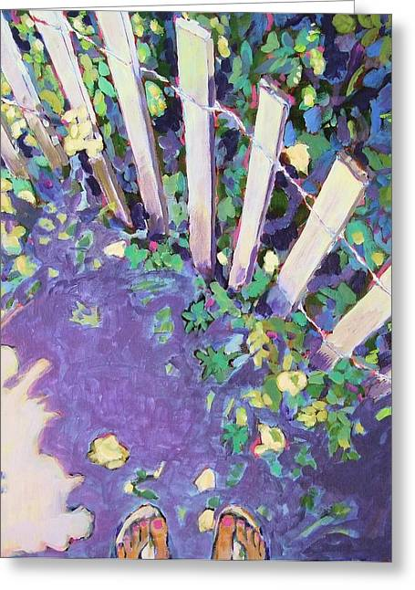 Sand Fences Mixed Media Greeting Cards - Light and Shadows Greeting Card by Janet Ashworth
