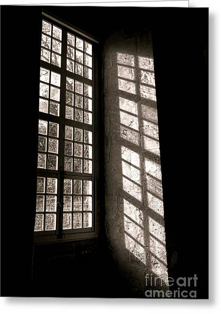 Window Panes Greeting Cards - Light and Shadows Greeting Card by Olivier Le Queinec