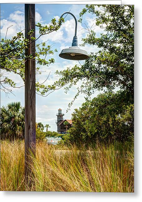 Cedar Key Greeting Cards - Light and the Lighthouse Greeting Card by John Bailey