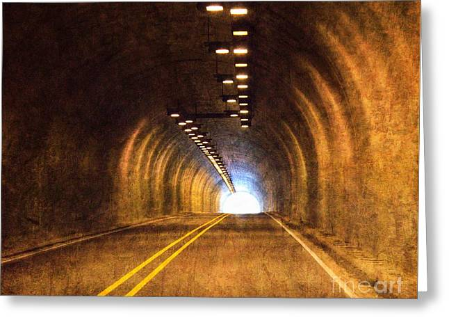 Barbara Chichester Digital Greeting Cards - Light At the End of the Tunnel Greeting Card by Barbara Chichester