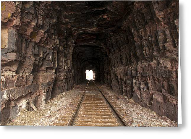 Daysray Photography Greeting Cards - Light at the End of the Tunnel Greeting Card by Fran Riley
