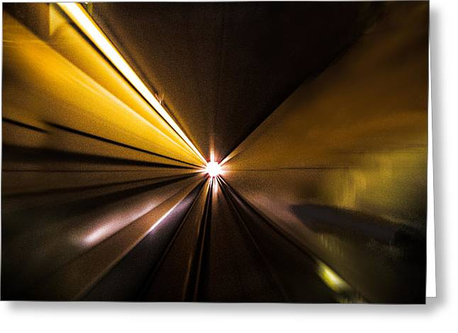 Light At The End Of The Tunnel Greeting Cards - Light at the End of the Tunnel-Skytrain 2013 Greeting Card by Evan Spellman