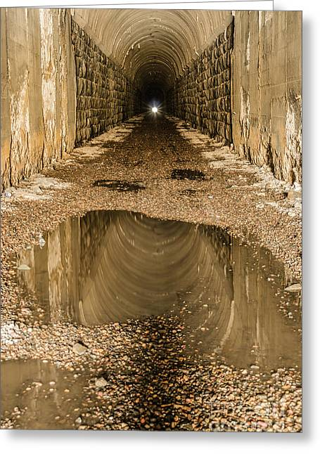 Sue Smith Greeting Cards - Light at the End of the Tunnel Greeting Card by Sue Smith