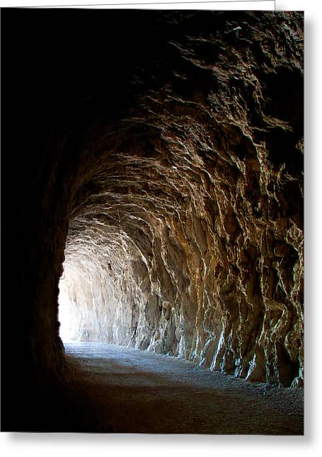 Hope At The End Of The Tunnel Greeting Cards - Light at the end of the Tunnel Greeting Card by Weston Westmoreland