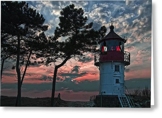 Light Beacon Greeting Card by Joachim G Pinkawa