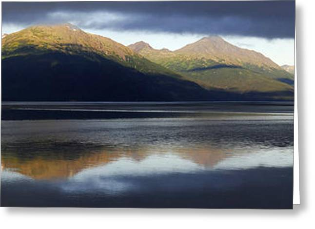 Scenic Drive Greeting Cards - Light Between the Dark Clouds 1 Greeting Card by Qing Yang