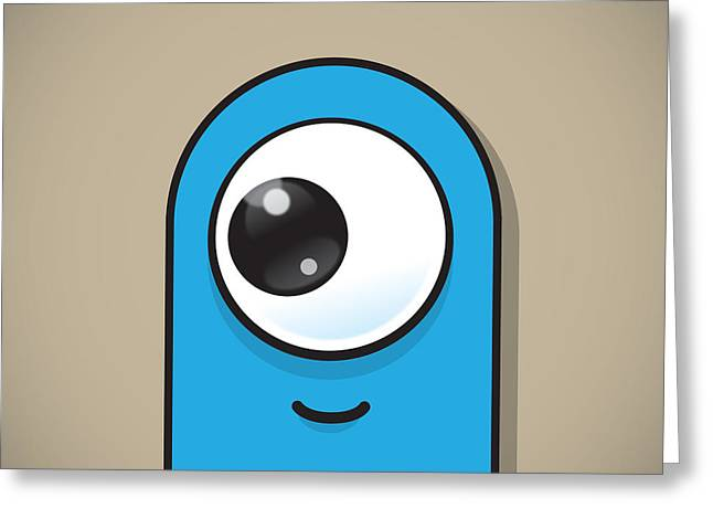 Eye-catching Greeting Cards - Light Blue Greeting Card by Samuel Whitton