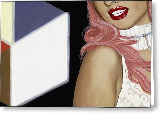 White Paintings Greeting Cards - Light Box Greeting Card by Marcella Lassen