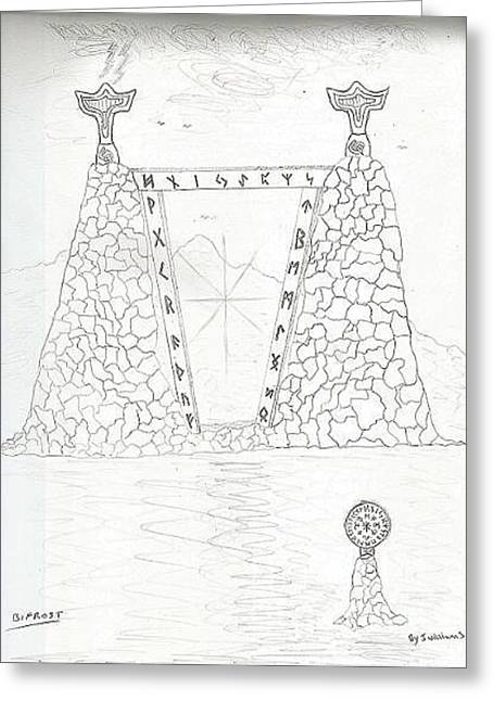 John Williams Drawings Greeting Cards - Light Bridge 2 Greeting Card by John Williams