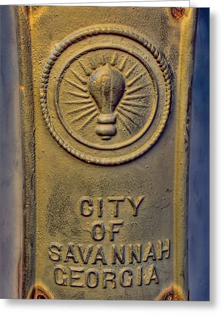 Generators Greeting Cards - Light Bulb Emblem Savannah Greeting Card by Henry Kowalski