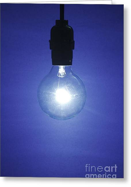 Tungsten Greeting Cards - Light Bulb Greeting Card by GIPhotoStock