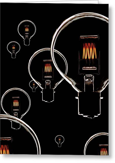 Light Bulbs Greeting Card by Mark Sykes