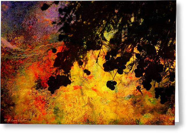 Wildlife Digital Art Greeting Cards - Light Bursting Forth Abstract Greeting Card by J Larry Walker