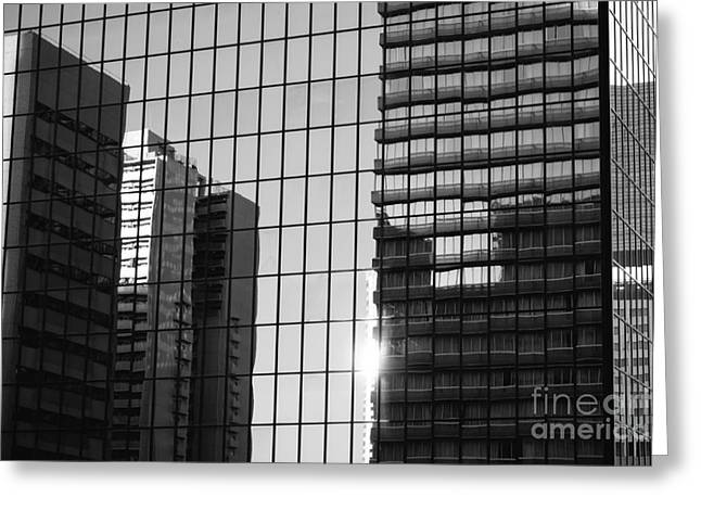 Light Fading In Downtown Tokyo Greeting Card by Dean Harte