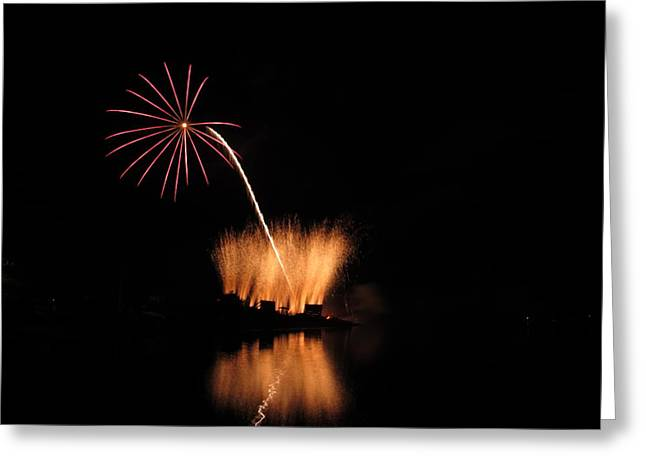 Independance Greeting Cards - Light Flower Greeting Card by Donnie Freeman