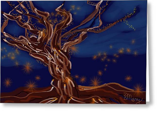 Light Force Greeting Card by Mary Gravelle
