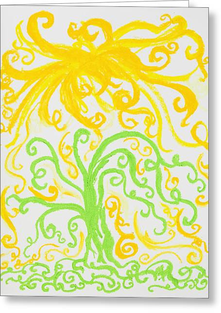 Tree Roots Pastels Greeting Cards - Light From Heaven II Greeting Card by Melissa Bitter