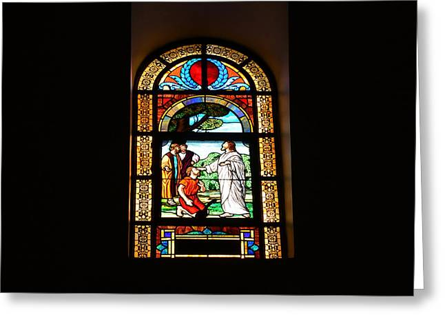 Bible Scene Greeting Cards - Light from the Dark Greeting Card by David Lee Thompson