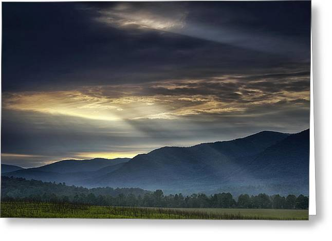 Light From The Heavens Greeting Card by Andrew Soundarajan