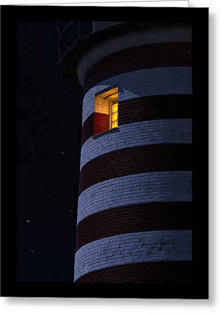 Lighthouse Greeting Cards - Light From Within Greeting Card by Marty Saccone