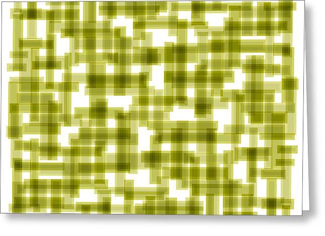 Light Green Abstract Greeting Card by Frank Tschakert