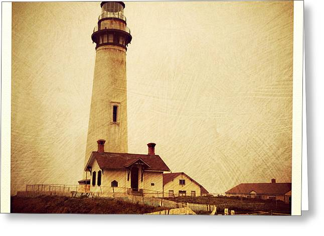 Duo Tone Greeting Cards - Light House Greeting Card by D