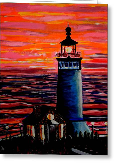 Famouse Greeting Cards - Light House Greeting Card by Khanda Lewis
