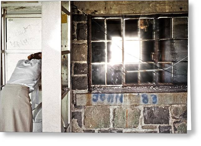 Bad Experience Greeting Cards - Light in Abandonment Greeting Card by Kellice Swaggerty