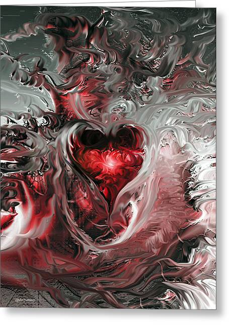 Light Of Heart Greeting Cards - Light In Darkness Greeting Card by Linda Sannuti