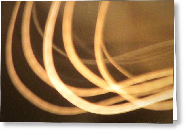 Light In Motion The Next Generation Three Greeting Card by Joyce Dickens