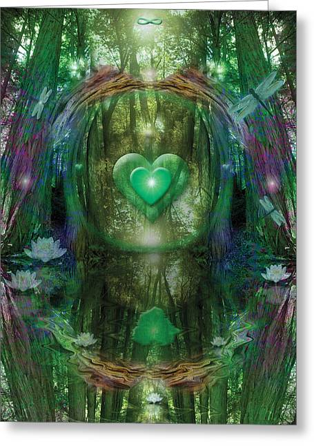 Light In The Forest Greeting Card by Alixandra Mullins