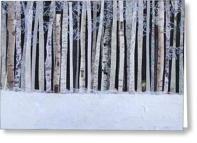 Light In The Forest Greeting Card by Barbara Kinnick