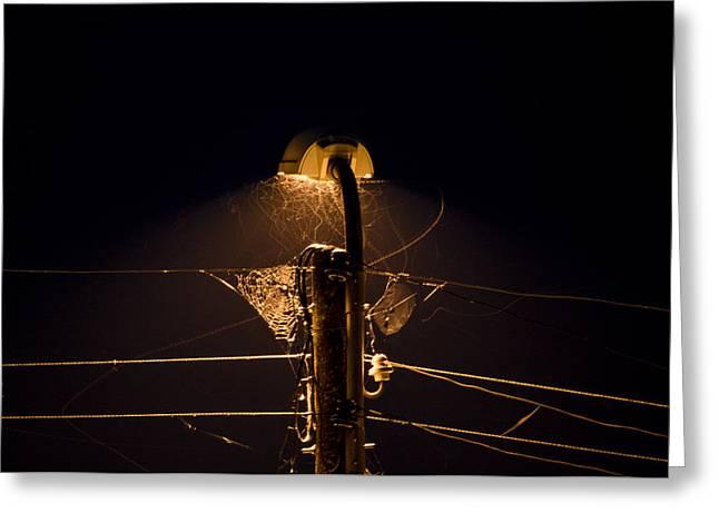 Streetlight Greeting Cards - Light Intensity Greeting Card by Zhivko Raev