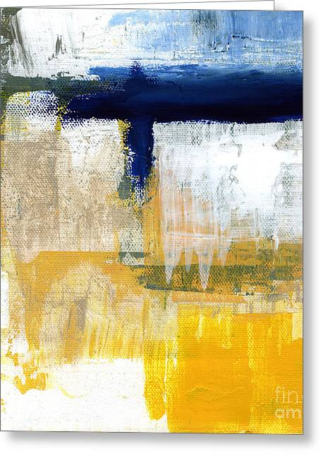 Abstract Modern Greeting Cards - Light Of Day 2 Greeting Card by Linda Woods