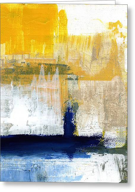 Blues And Yellows Greeting Cards - Light Of Day 4 Greeting Card by Linda Woods