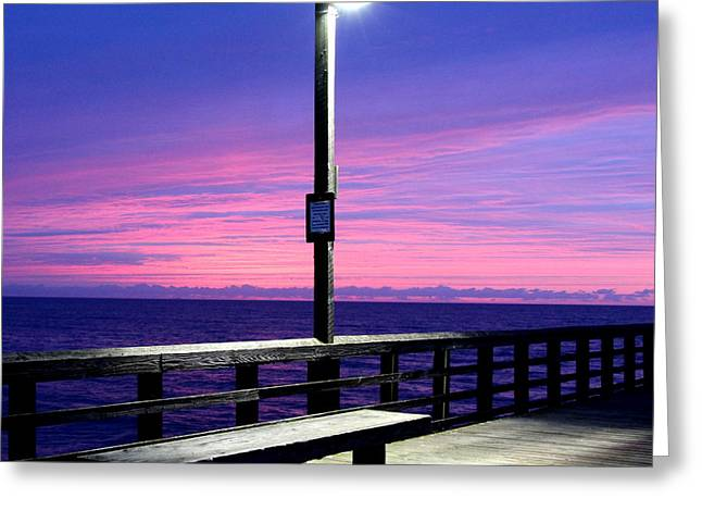 Surf City Greeting Cards - All alone in the Light of Day Greeting Card by Rand Wall