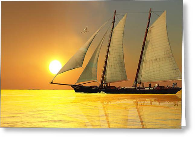 Ship Digital Art Greeting Cards - Light of Life Greeting Card by Corey Ford
