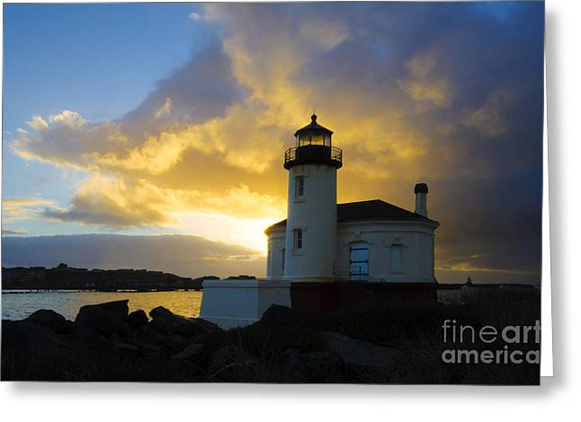 Lighthouse By The Sea Greeting Cards - You Light Up My Life 1 Greeting Card by Bob Christopher