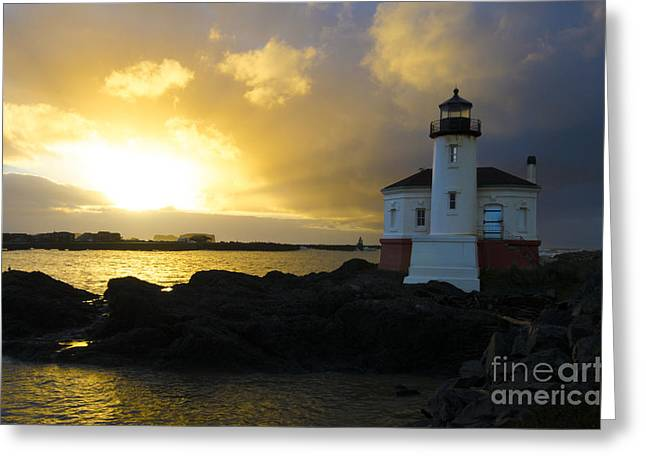 Lighthouse By The Sea Greeting Cards - You Light Up My Life 2 Greeting Card by Bob Christopher