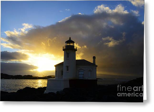 Lighthouse By The Sea Greeting Cards - You Light Up My Life 3 Greeting Card by Bob Christopher