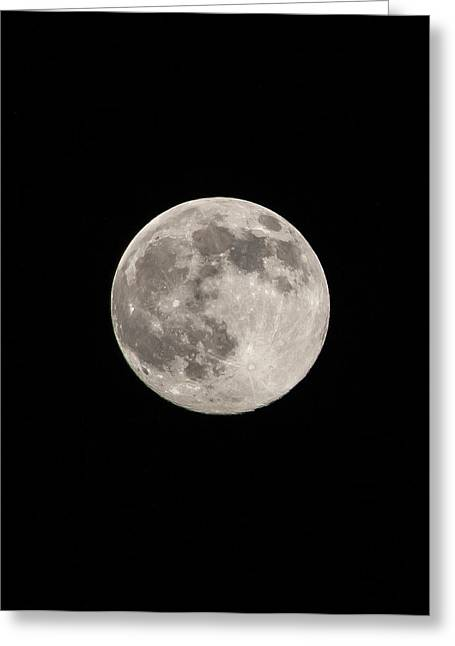 Neil Armstrong The Moon Greeting Cards - Light of Night Greeting Card by Shelby  Young