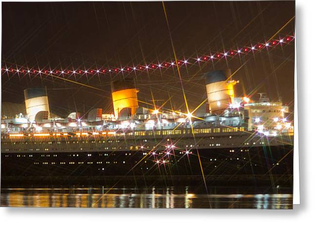 Editorial Greeting Cards - Light Of Queen Mary Greeting Card by Heidi Smith