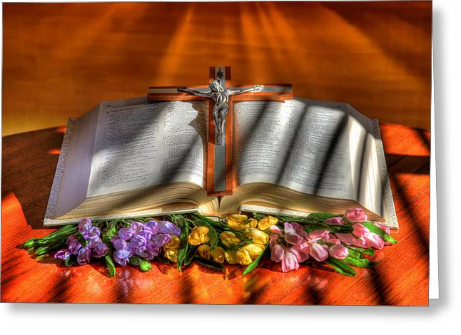 Bible Greeting Cards - Light of the World Greeting Card by Donna Kennedy